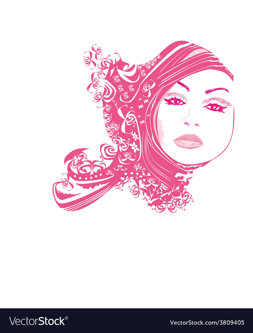 Abstract woman portrait vector | Price: 1 Credit (USD $1)