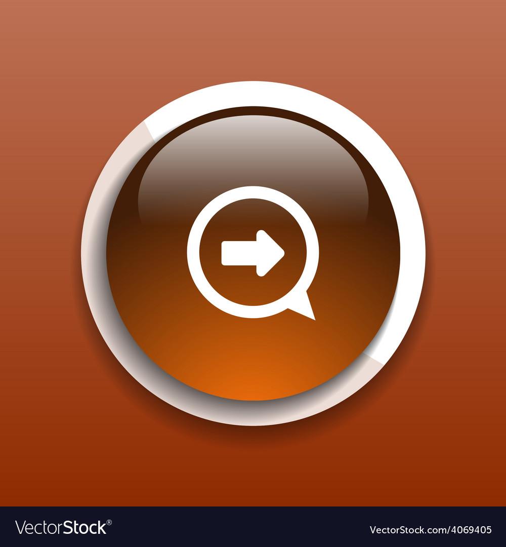 Arrow website next pointer cursor navigation right vector | Price: 1 Credit (USD $1)