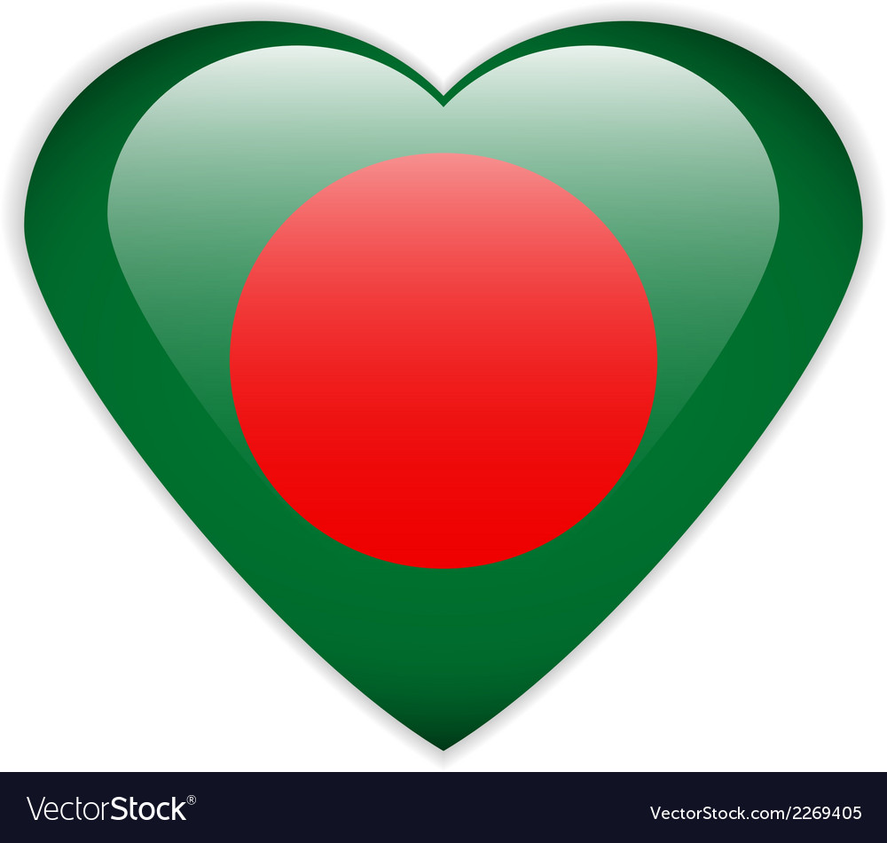 Bangladesh flag button vector | Price: 1 Credit (USD $1)