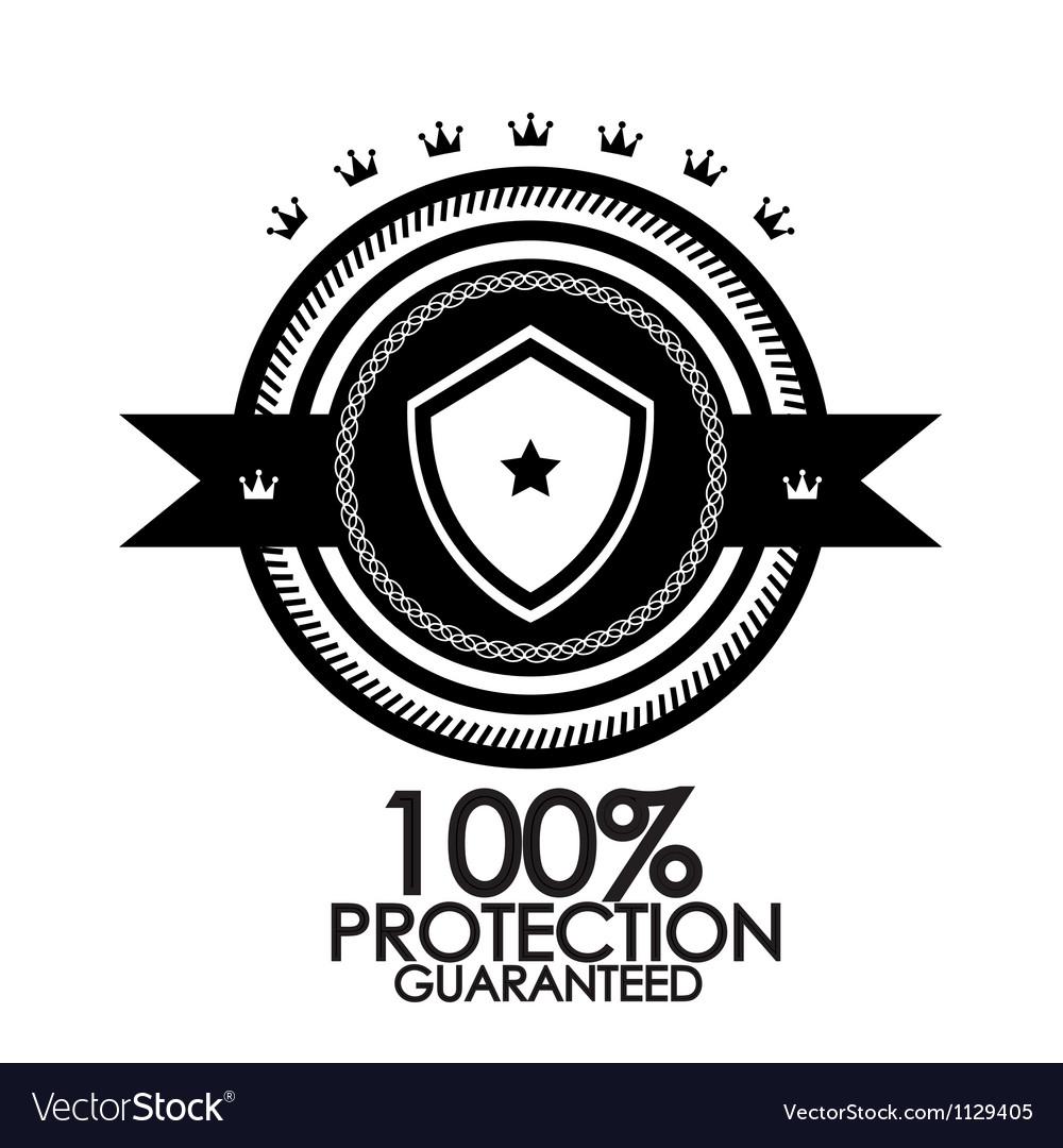 Black retro vintage label  tag  badge  protection vector | Price: 1 Credit (USD $1)