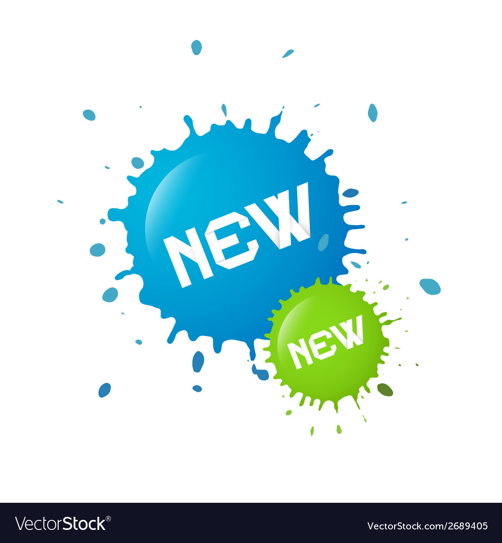 Blue and green new splashes blots vector | Price: 1 Credit (USD $1)