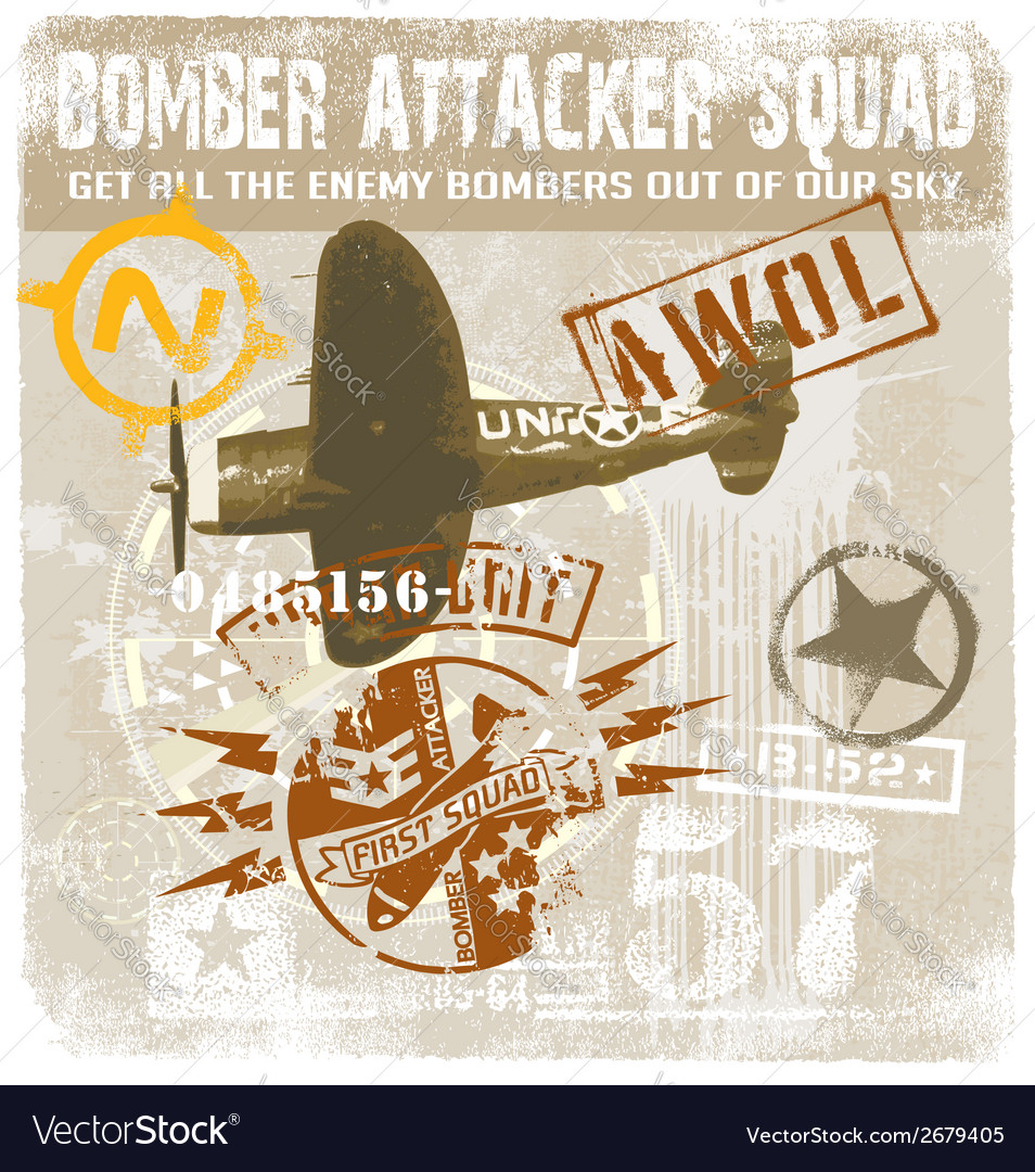 Bomber attacker squad vector | Price: 1 Credit (USD $1)