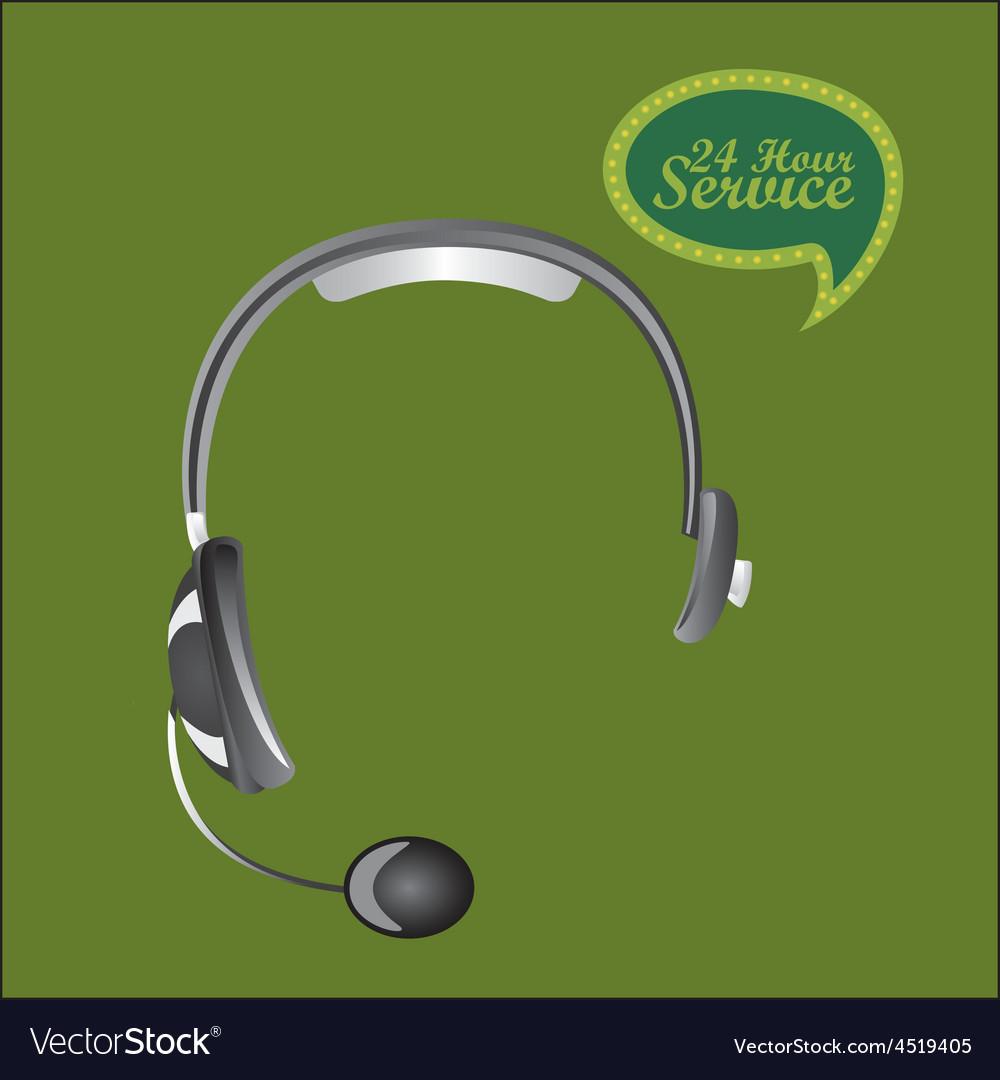 Call center design vector | Price: 1 Credit (USD $1)
