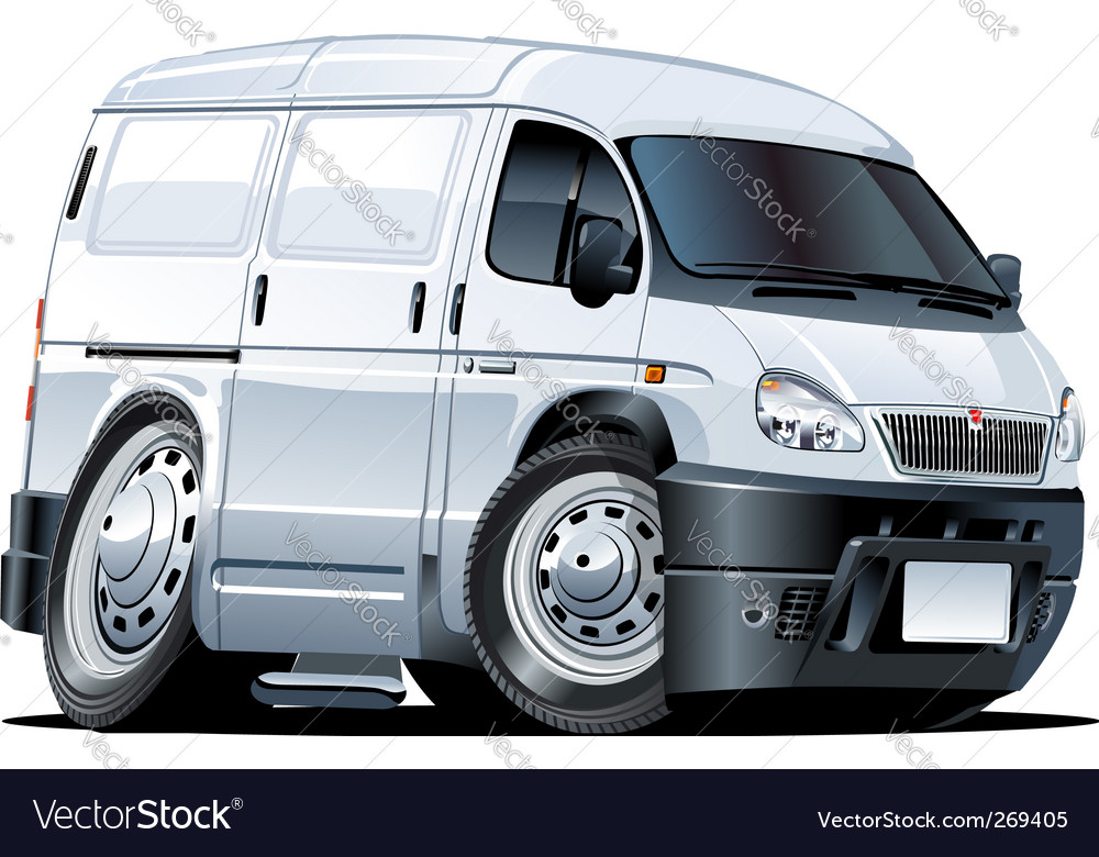 Cartoon van vector | Price: 3 Credit (USD $3)