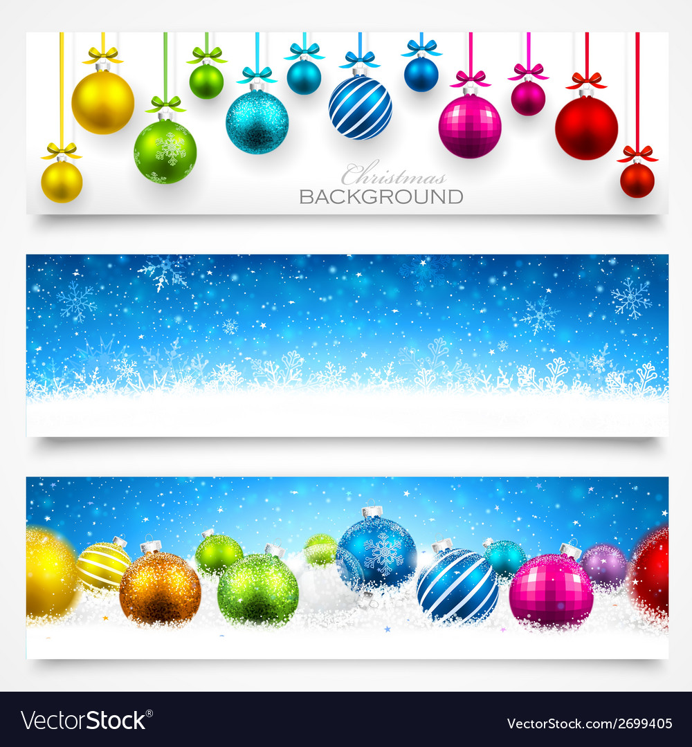 Collection of christmas banners vector