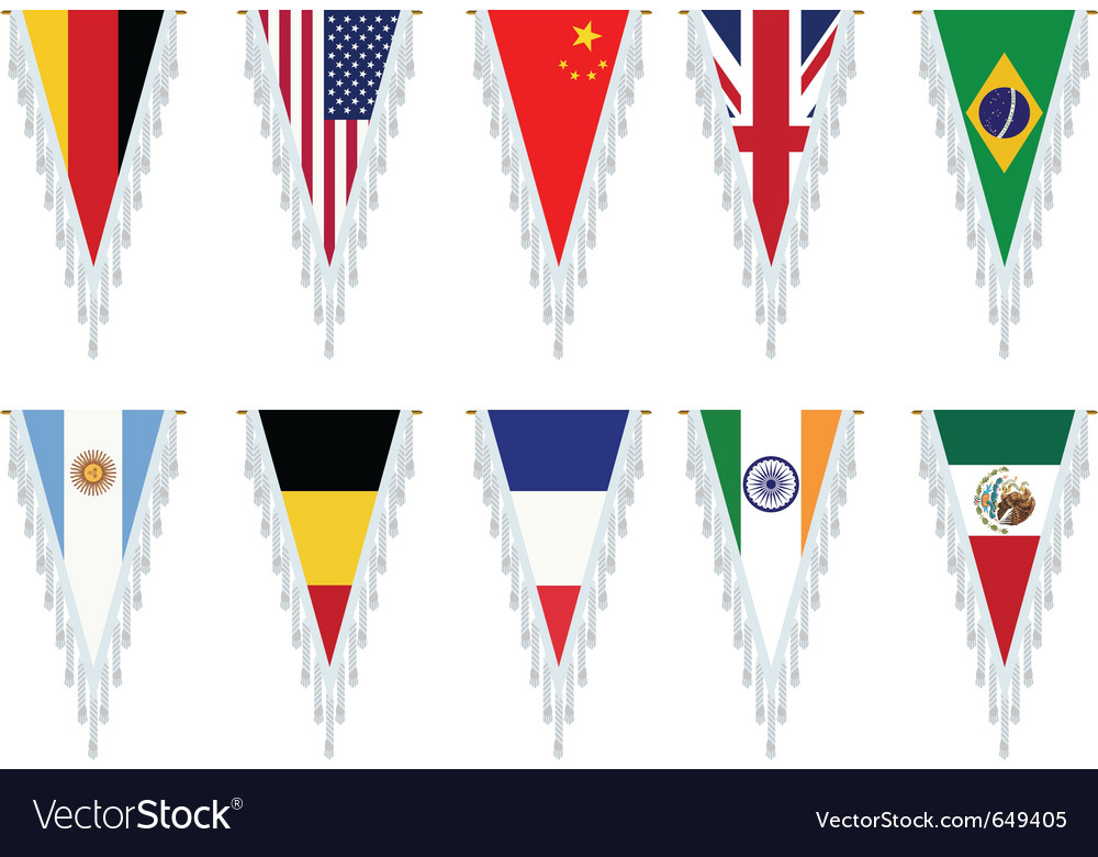 Country flags vector | Price: 1 Credit (USD $1)