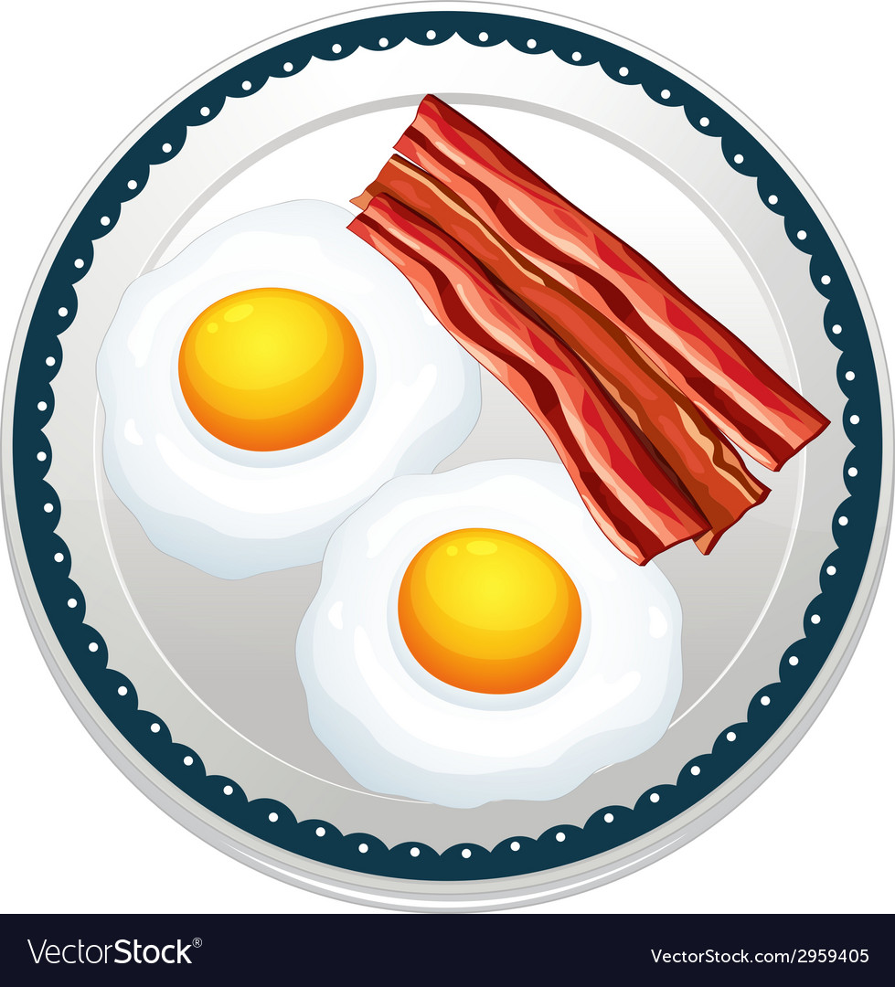 Egg and becon vector | Price: 1 Credit (USD $1)