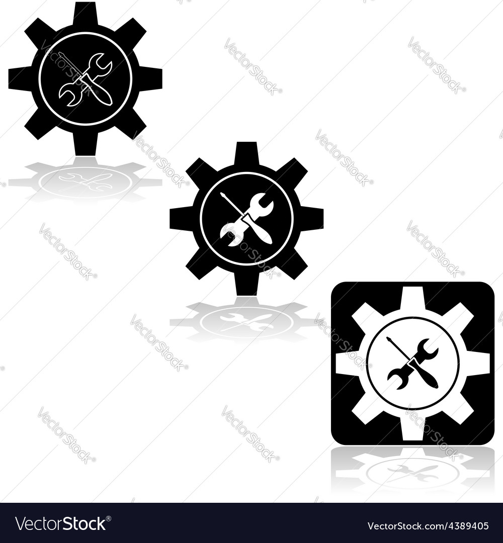 Gear fix tools vector | Price: 1 Credit (USD $1)