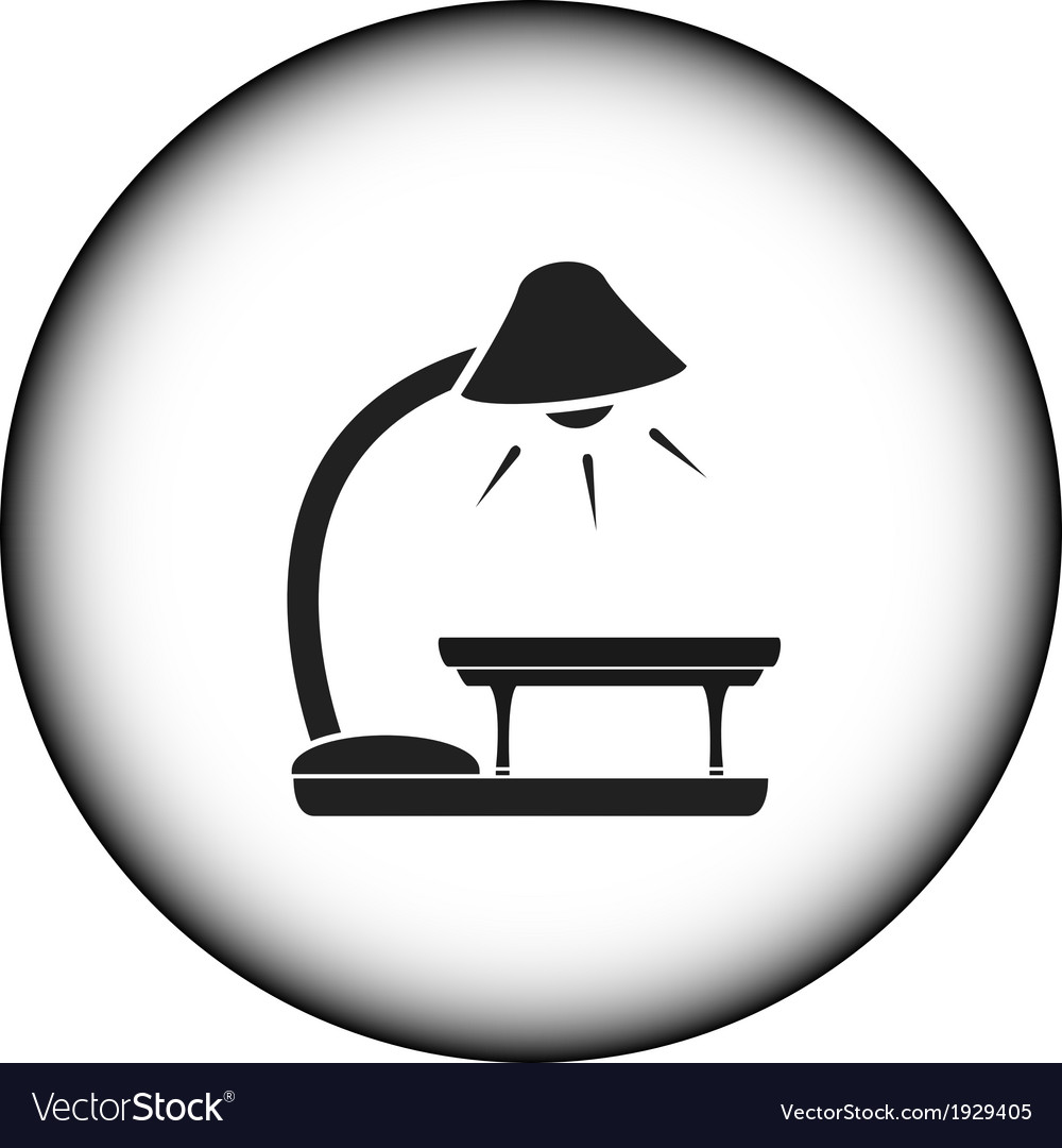 Icon with floor lamp and table vector | Price: 1 Credit (USD $1)