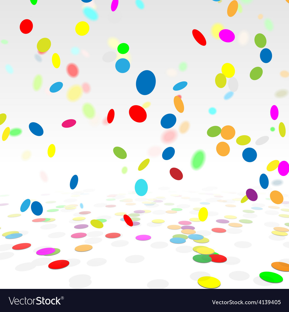 Party background with a colorful confetti stock vector | Price: 1 Credit (USD $1)