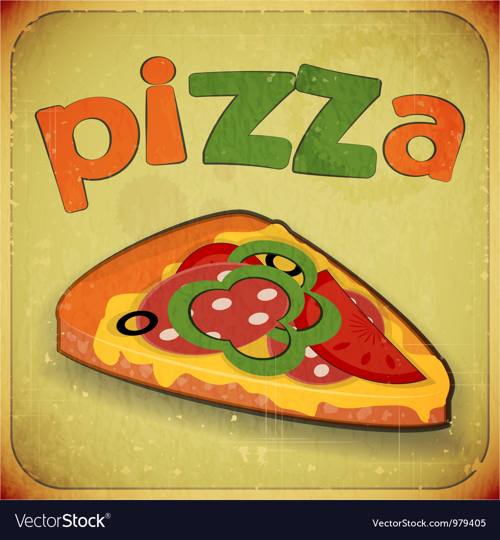 Pizza grunge vector | Price: 1 Credit (USD $1)
