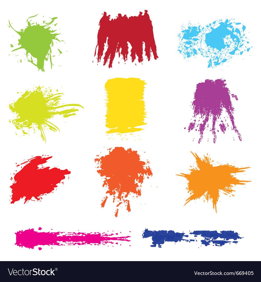 Set of grunge brush vector   Price: 1 Credit (USD $1)