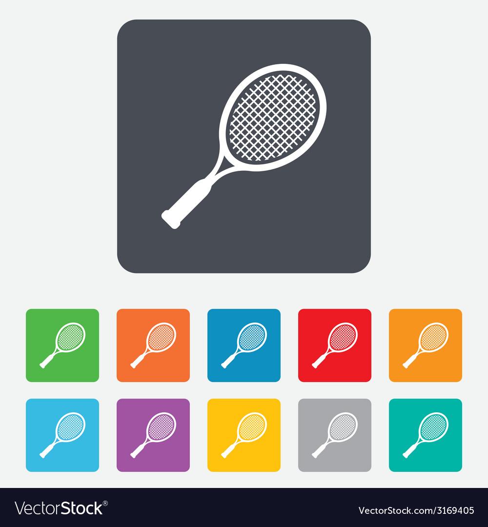 Tennis racket sign icon sport symbol vector | Price: 1 Credit (USD $1)