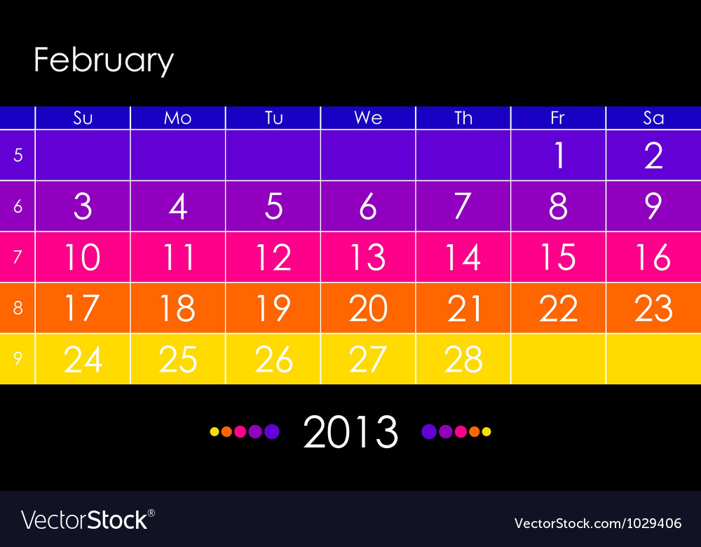 2013 february vector | Price: 1 Credit (USD $1)