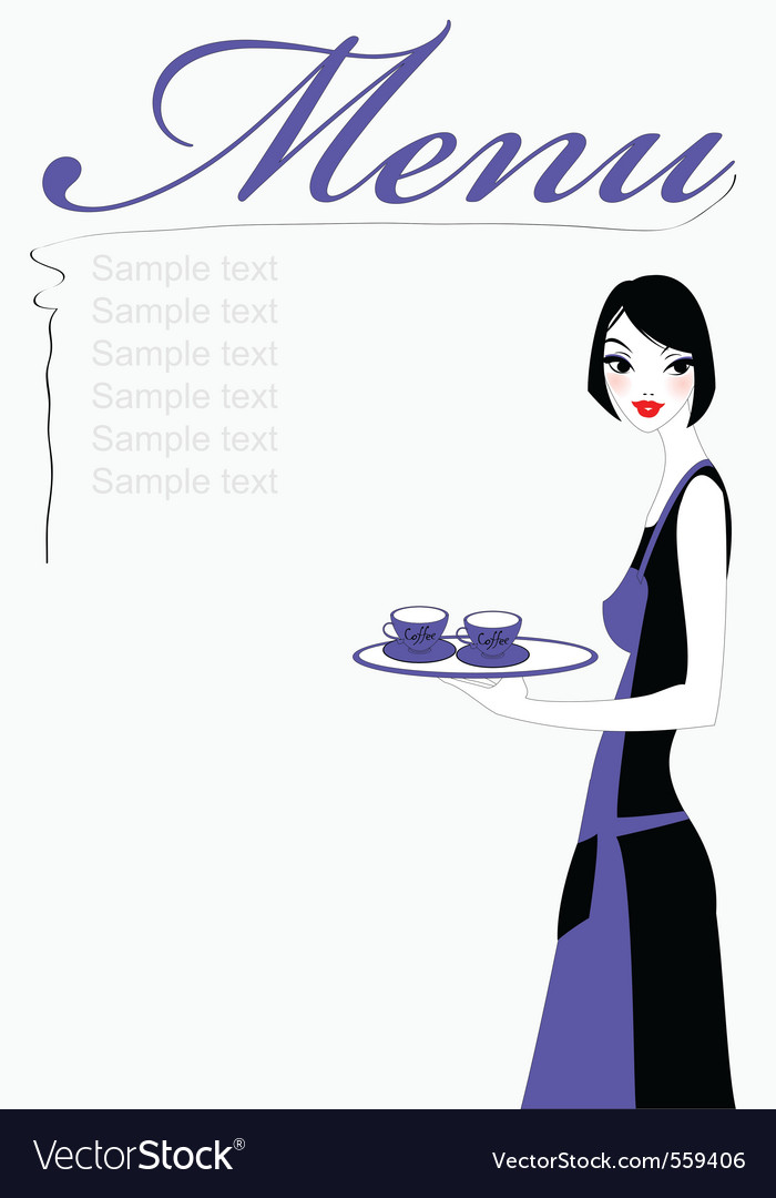 Beautiful waitress vector | Price: 1 Credit (USD $1)
