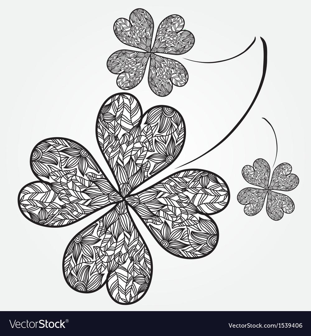 Decorative clover vector | Price: 1 Credit (USD $1)