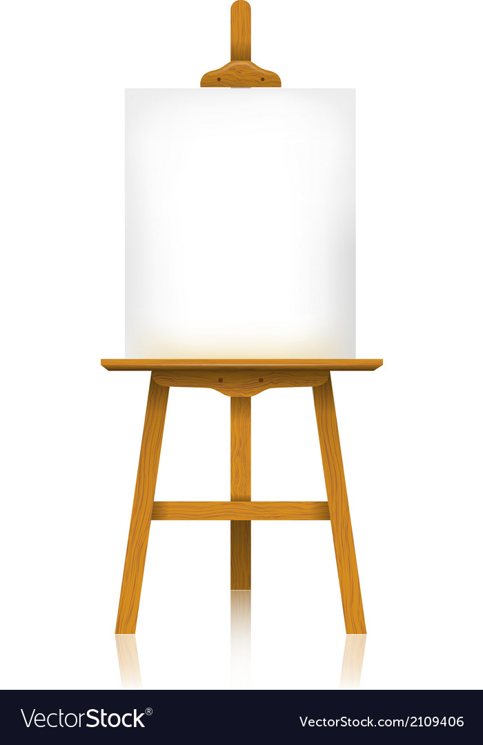 Easel with a blank canvas vector | Price: 1 Credit (USD $1)
