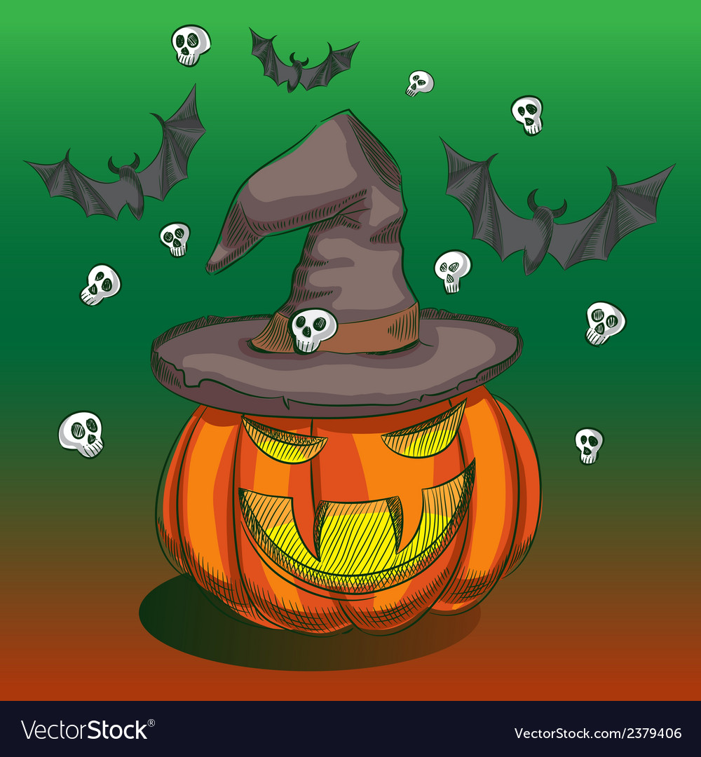 Evil pumpkin vector | Price: 1 Credit (USD $1)