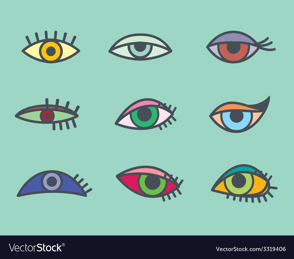Eyes icons vector | Price: 1 Credit (USD $1)