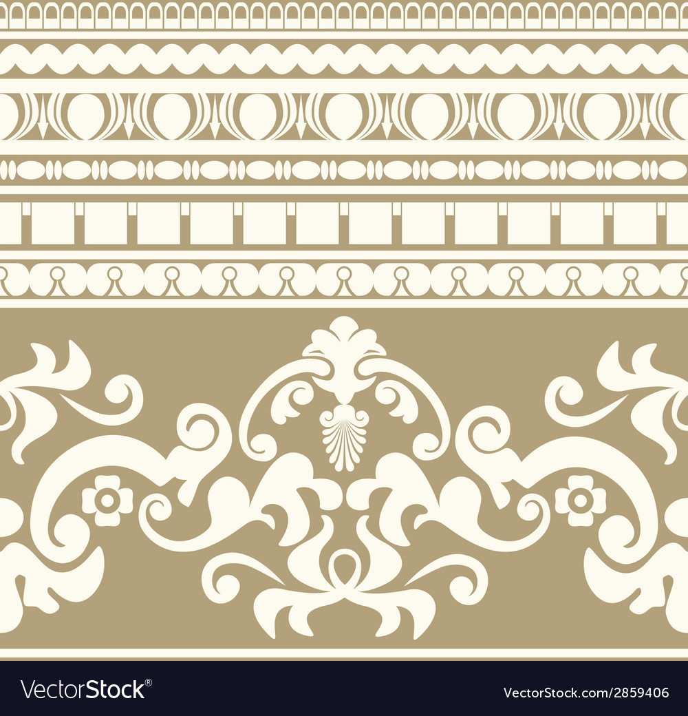 Greek ornament seamless pattern vector | Price: 1 Credit (USD $1)