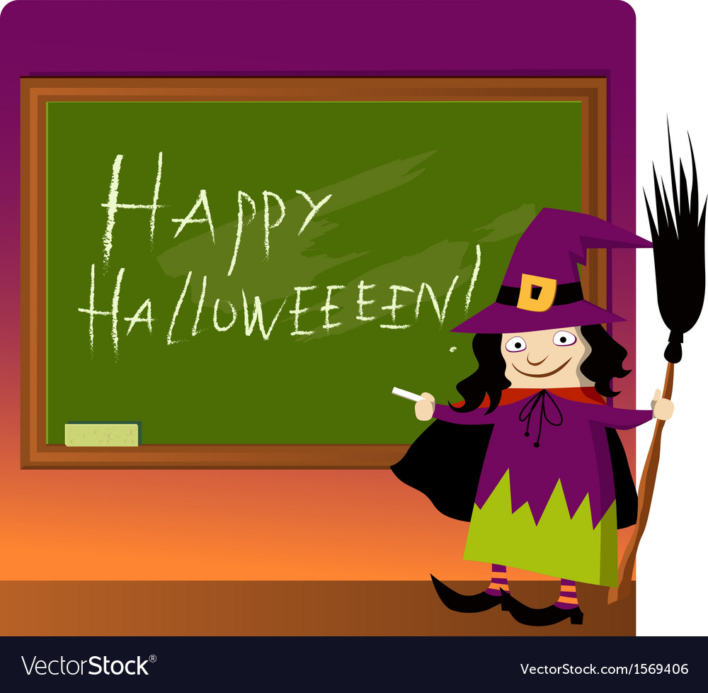 Halloween at school vector | Price: 1 Credit (USD $1)
