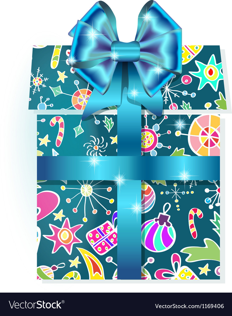 Holiday gift box vector | Price: 1 Credit (USD $1)