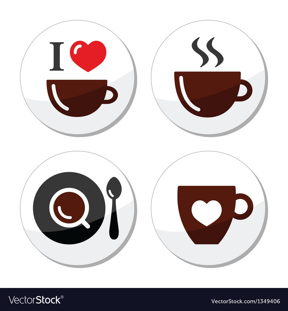 I love cofee labels vector | Price: 1 Credit (USD $1)