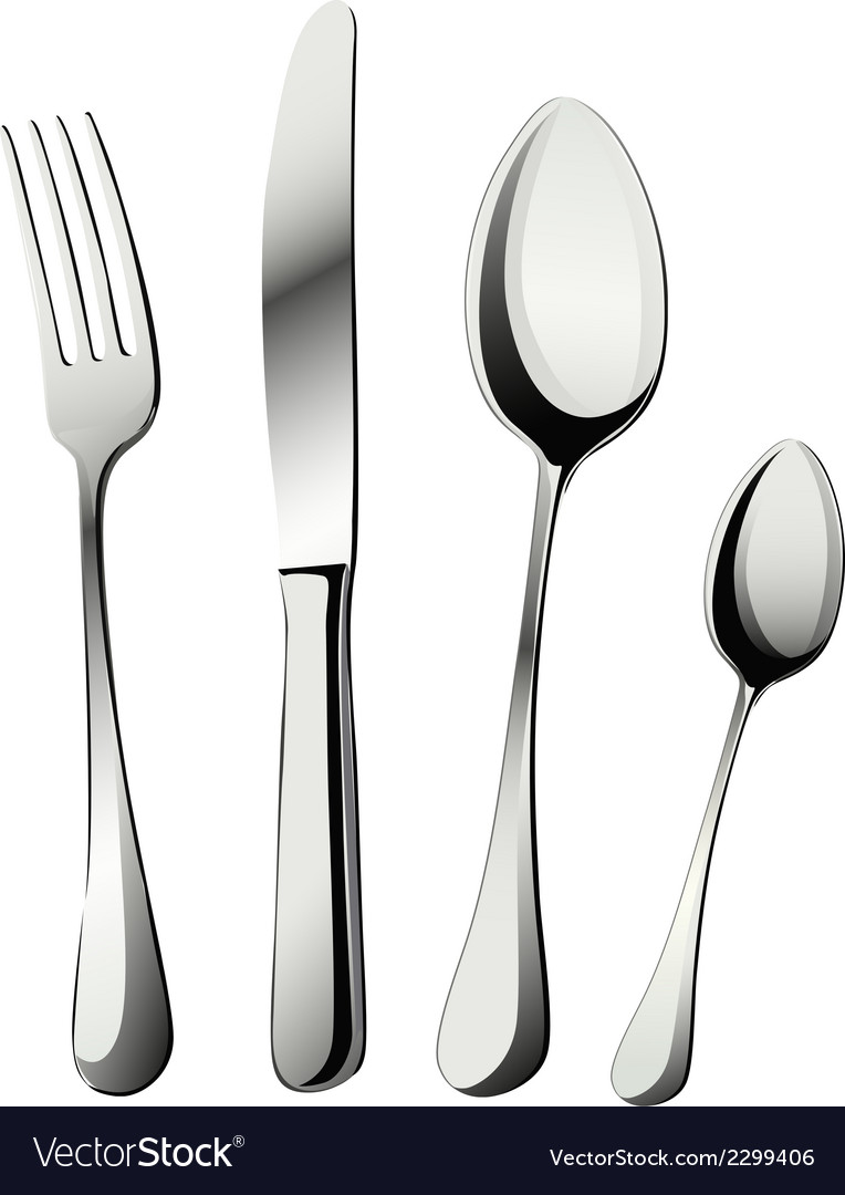 Knife fork and spoons vector | Price: 1 Credit (USD $1)