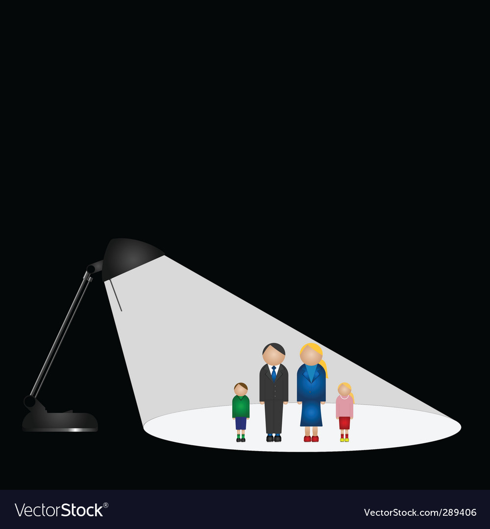 Lamp family vector | Price: 1 Credit (USD $1)