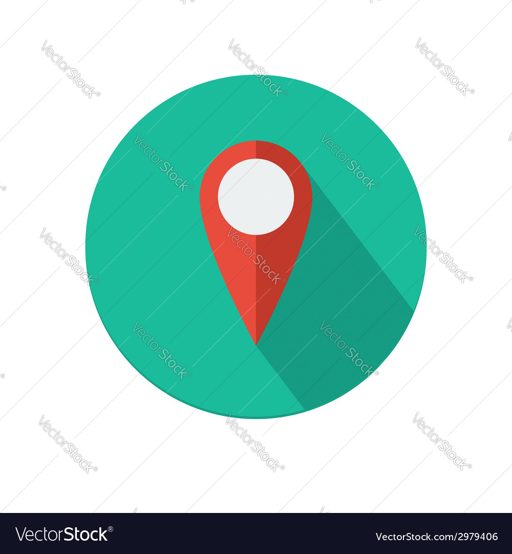 Map pointer icon vector | Price: 1 Credit (USD $1)