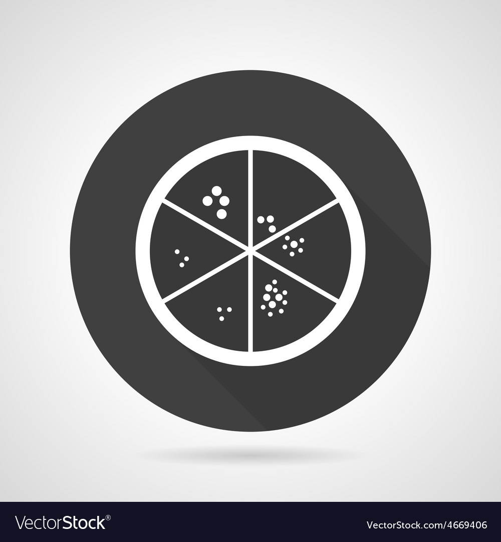 Petri dish black round icon vector | Price: 1 Credit (USD $1)
