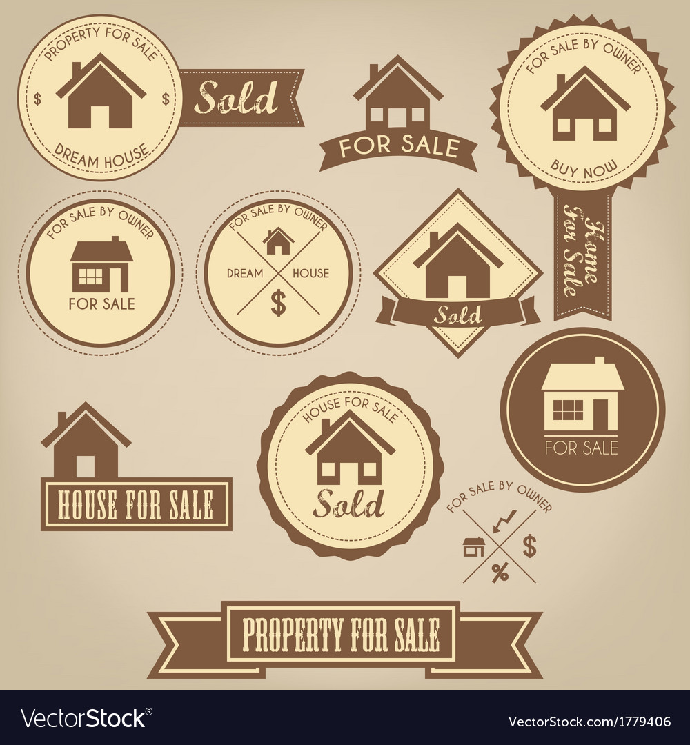 Property for sale design set vector | Price: 1 Credit (USD $1)