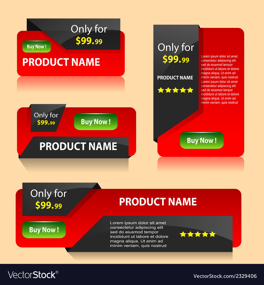Red sale banners vector | Price: 1 Credit (USD $1)