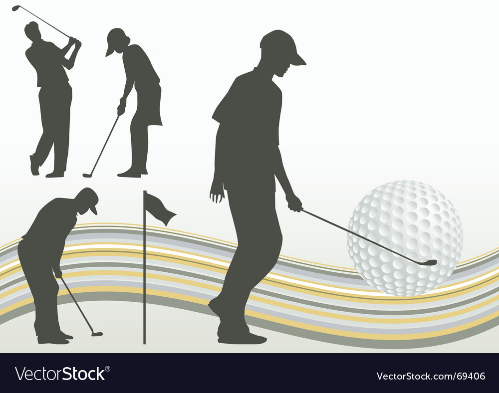 Set of golf player vector | Price: 1 Credit (USD $1)