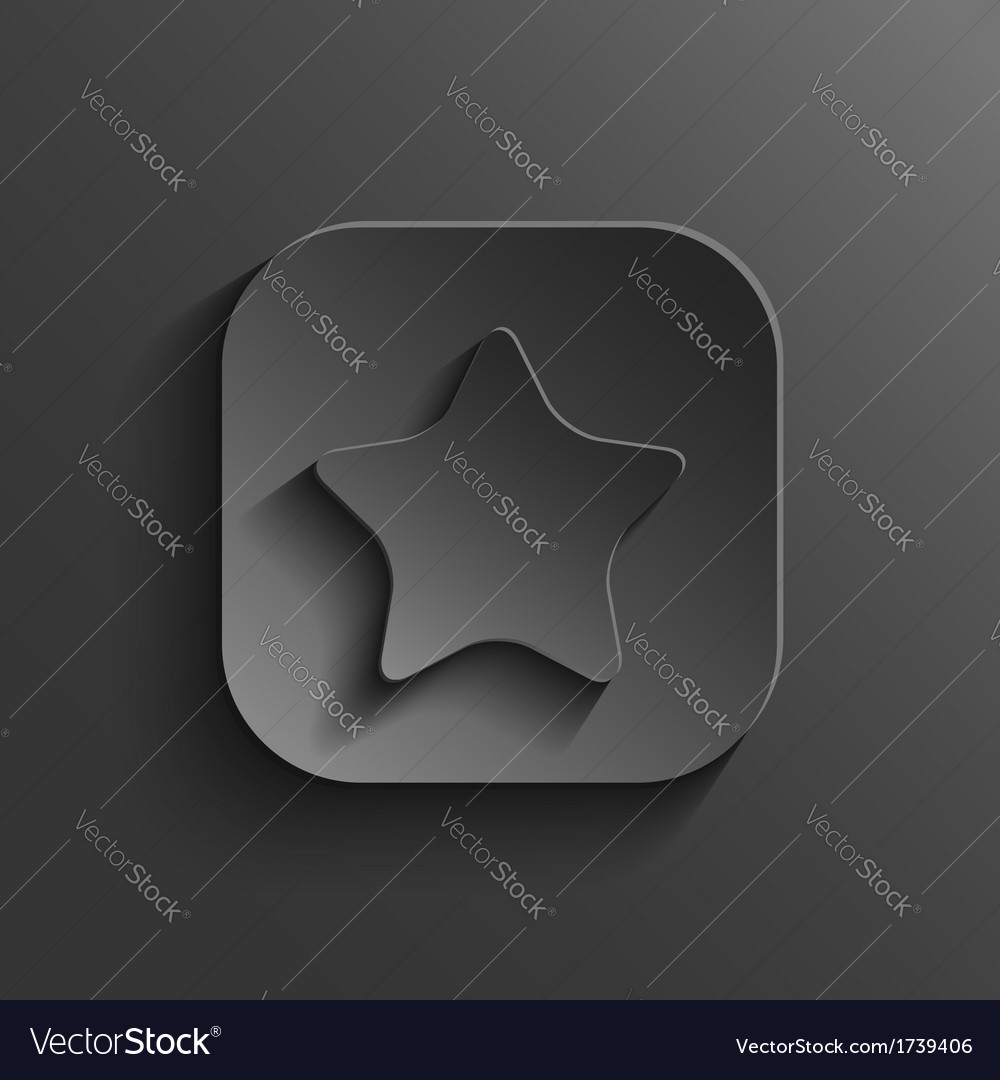 Star icon - black app button vector | Price: 1 Credit (USD $1)