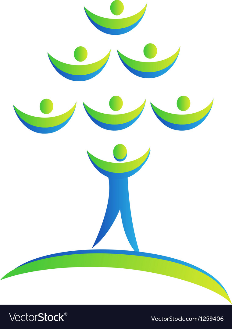 Tree people logo vector | Price: 1 Credit (USD $1)