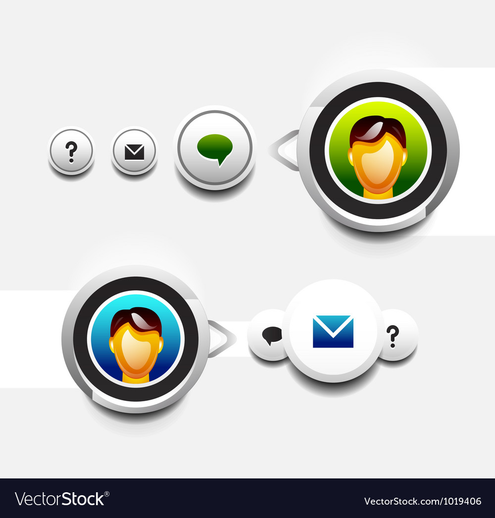 User icon with tooltip vector   Price: 1 Credit (USD $1)
