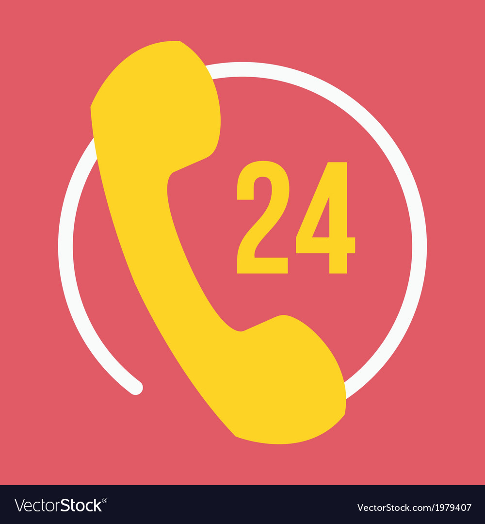 24 hours customer service icon vector | Price: 1 Credit (USD $1)