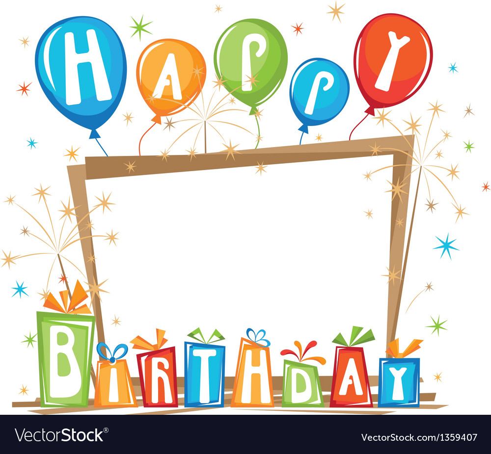 Abstraction bithday frame vector | Price: 1 Credit (USD $1)