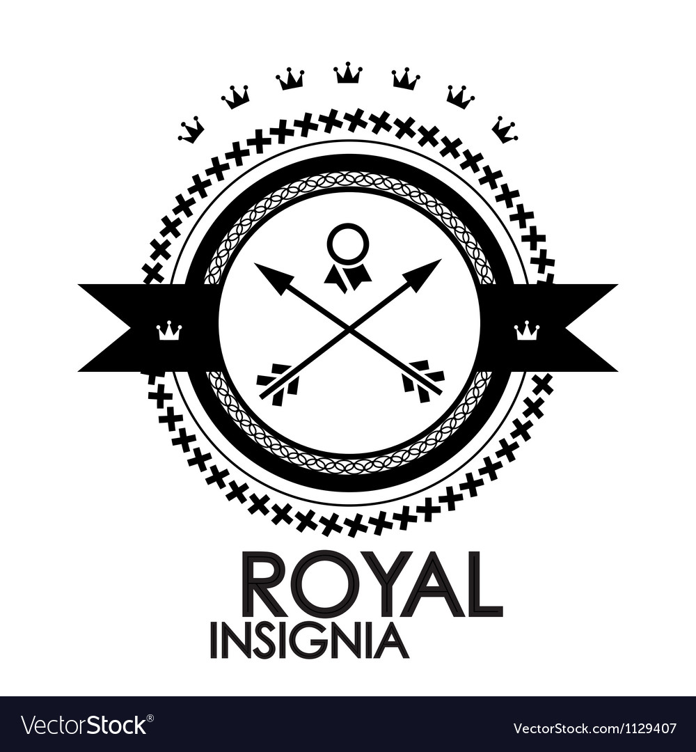 Black retro vintage label  tag  badge  royal stamp vector | Price: 1 Credit (USD $1)