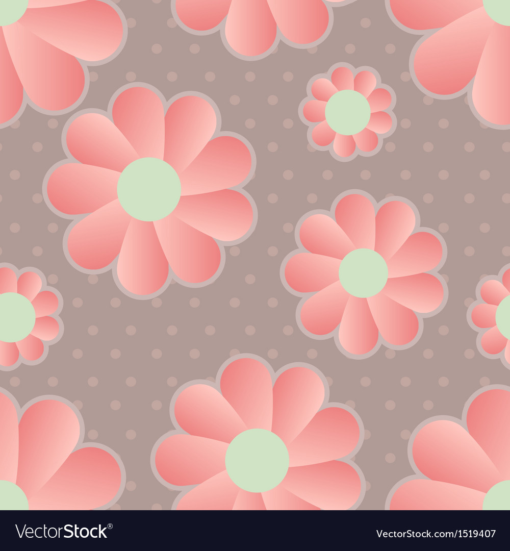 Daisy retro background vector | Price: 1 Credit (USD $1)