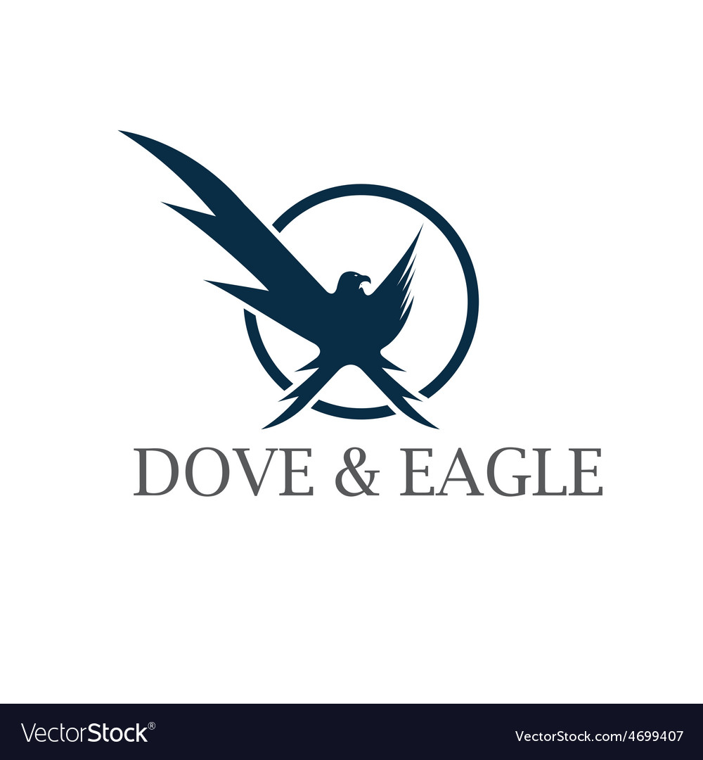 Dove and eagle negative space concept design vector | Price: 1 Credit (USD $1)