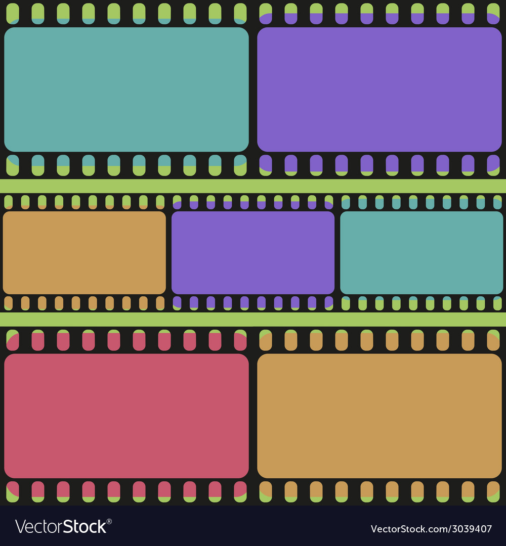 Film strips seamless pattern retro background vector | Price: 1 Credit (USD $1)