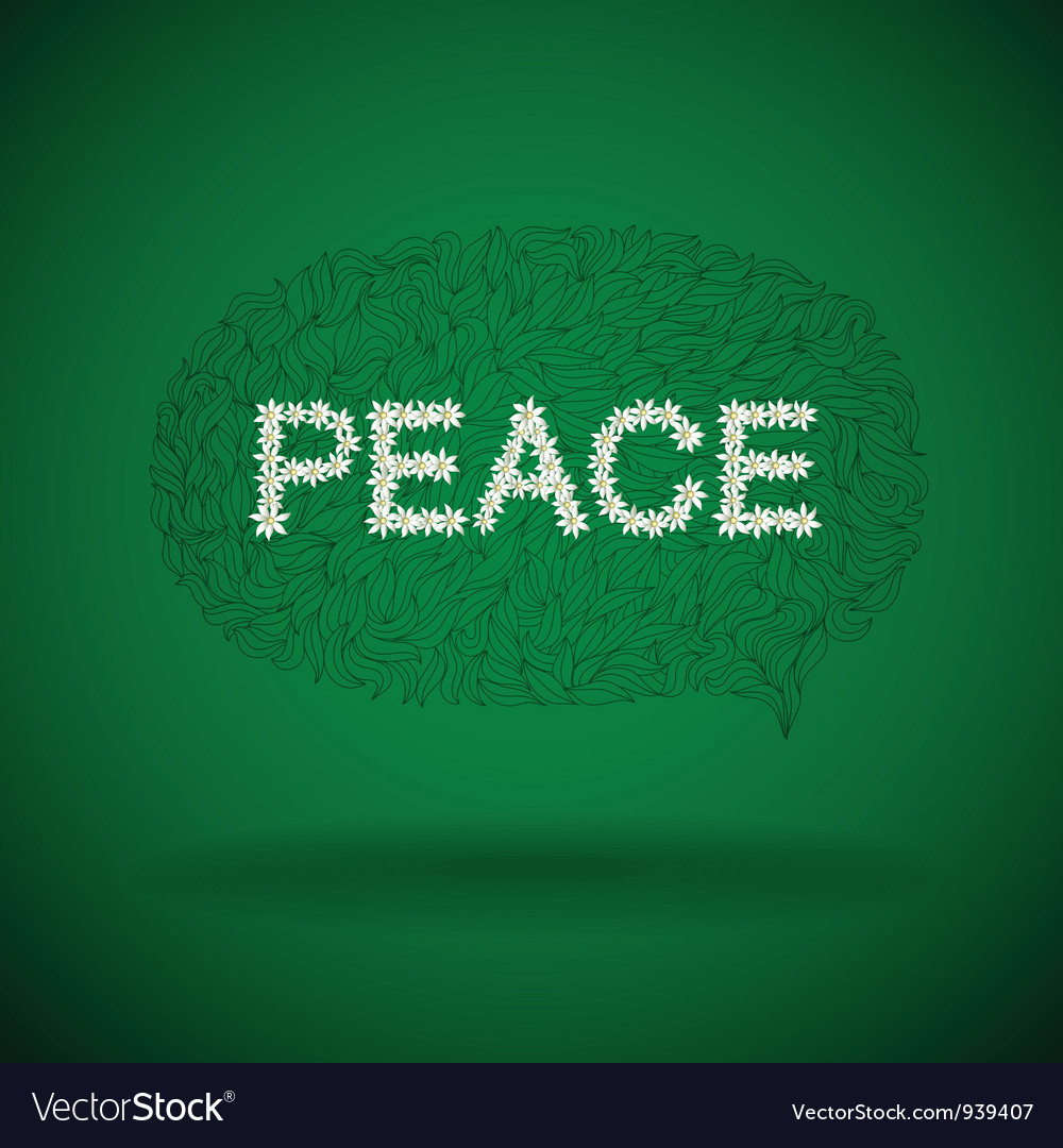 Floral peace sign vector | Price: 1 Credit (USD $1)
