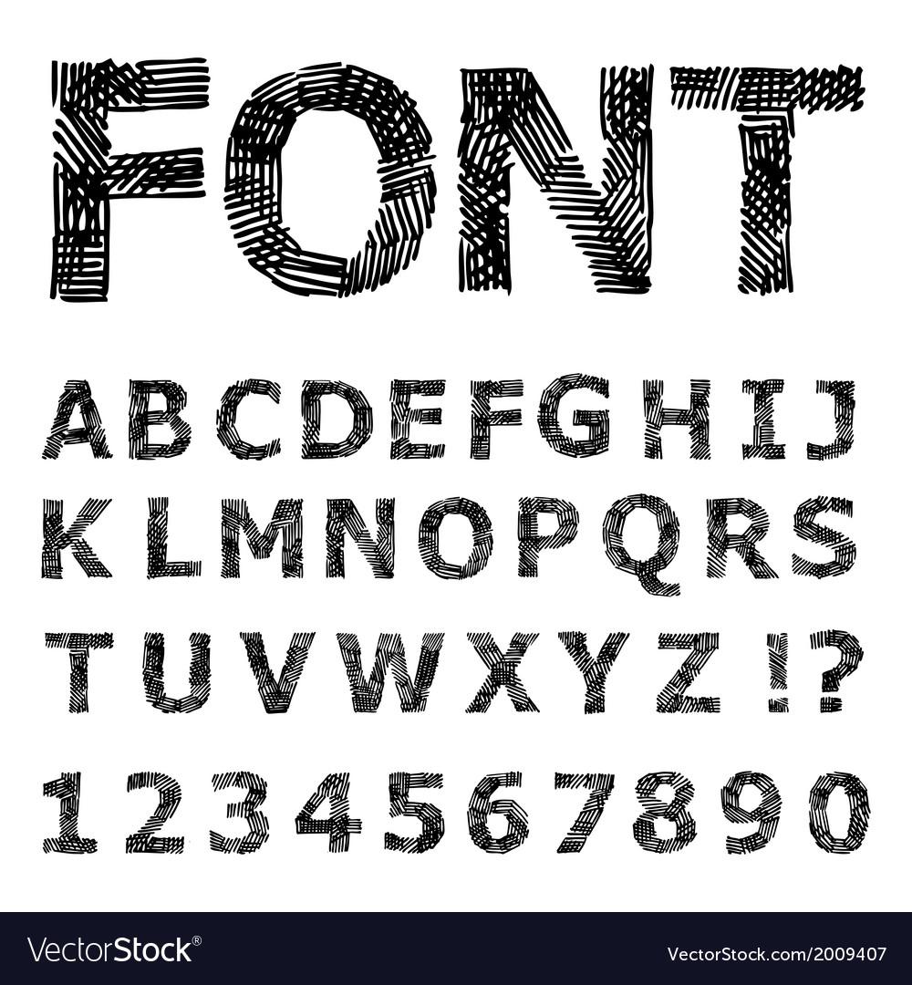 Grunge alphabet vector   Price: 1 Credit (USD $1)