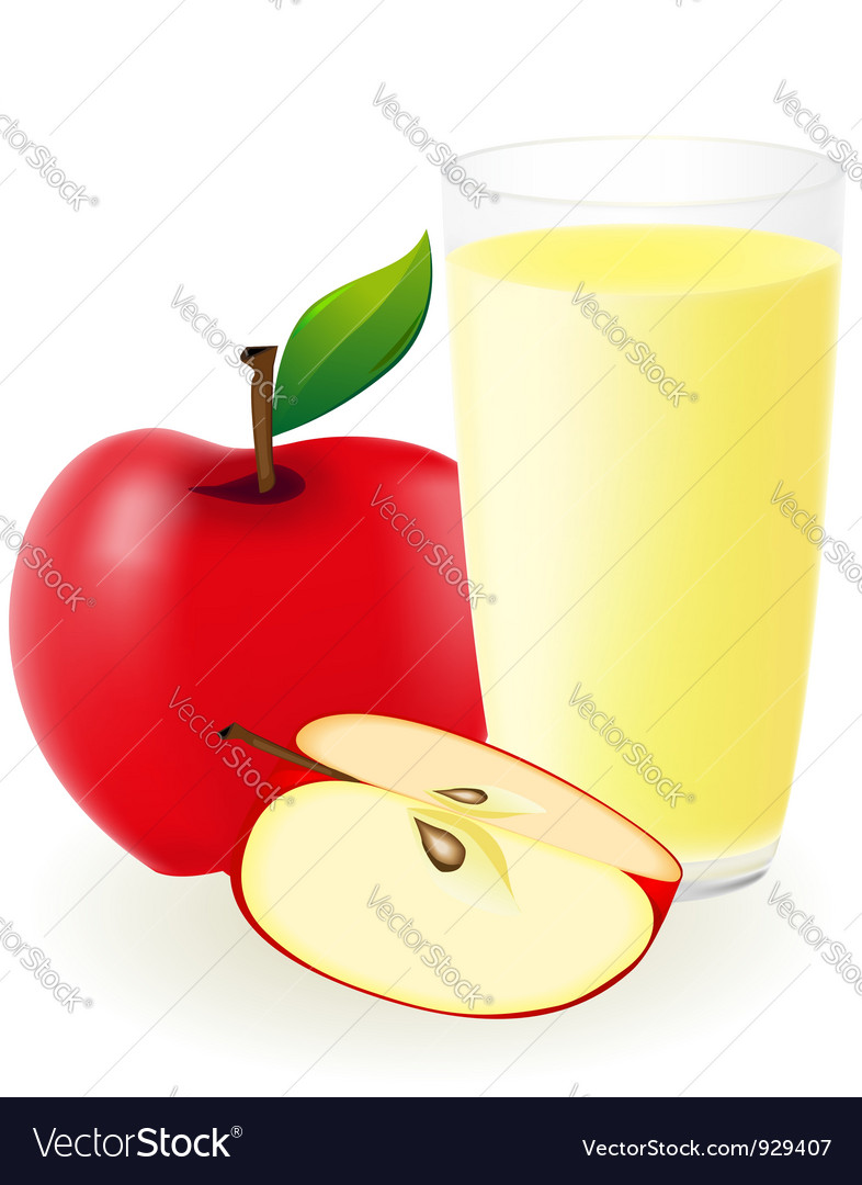 Red apple juice vector | Price: 1 Credit (USD $1)