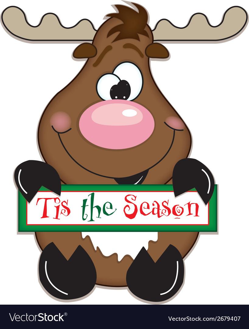 Reindeer tis the season vector | Price: 1 Credit (USD $1)