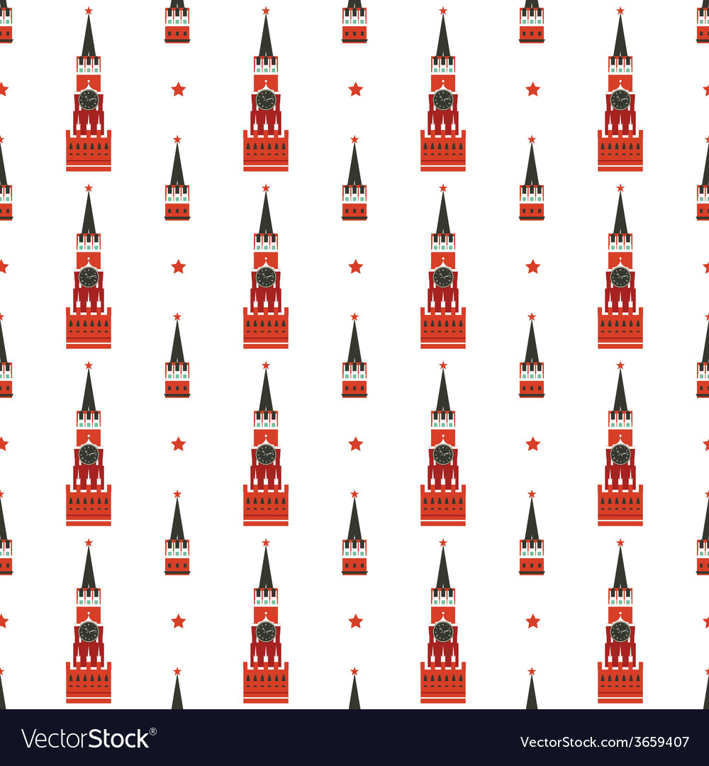 Russian kremlin seamless pattern vector | Price: 1 Credit (USD $1)