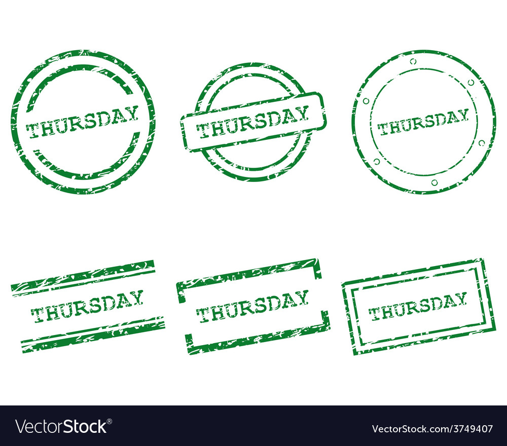 Thursday stamps vector | Price: 1 Credit (USD $1)