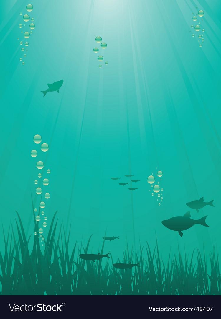 Underwater scene vector | Price: 1 Credit (USD $1)